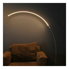 Brightech Sparq - Hanging, LED Arc Floor Lamp - Over The Couch, Contemporary Sta