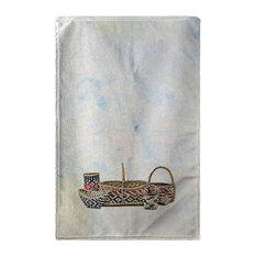 Betsy Drake Five Baskets Beach Towel