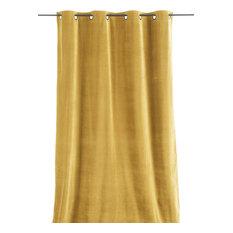 En Fil d'Indienne - Lyric Velvet Curtain, Mustard - Curtains