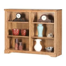 "Eagle Furniture Oak Ridge 36"" Tall, Double Wide Bookcase, Medium Oak"