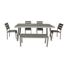 Boraam Industries, Inc. - 6-Pc Brava Dining Set - Outdoor Dining Sets