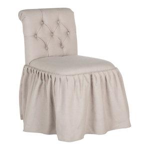 Super Safavieh Allie Vanity Chair Traditional Vanity Stools Machost Co Dining Chair Design Ideas Machostcouk