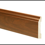 """Inteplast Building Products - Polystyrene Large Base Moulding, Set of 5, 1/2""""x 4-3/16""""x 96"""", Auburn - Inteplast Woodgrain Mouldings are the ideal way for you to add style and beauty to your home. Our mouldings are lightweight and come prefinished making them an easy weekend project. Inteplast Woodgrain Mouldings feature a rich wood grain texture with colors that give the natural appearance of expensive, hand-finished mouldings without the hassle of labor-intensive finishing processes making them the perfect accent for your room."""