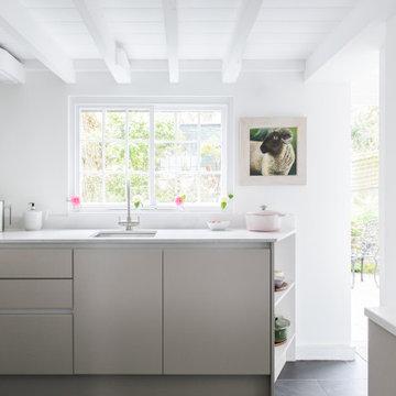 Tinny Cornish cottage kitchen
