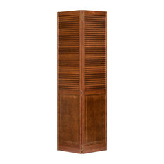 Stained Espresso Closet Door, Bi-Fold, Kimberly Bay Louver-Panel, 80x30