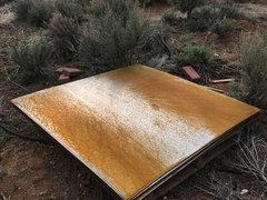 Contrast Between Stainless Steel And Rusting Cor Ten