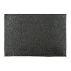 Faux Leather Placemats, Black, Set of 8
