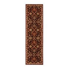"Ancient Times Ancient Treasures Rug, Brown, 2'2""x7'6"""