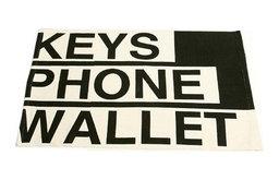 Black and White Keys, Phone, Wallet Fun Doormat