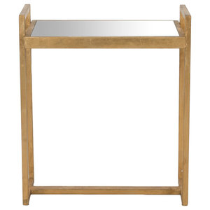 Safavieh Glendale Accent Table, Gold and Mirror