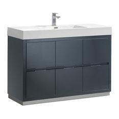Valencia Free Standing Modern Bathroom Vanity Dark Slate Gray 48-inch