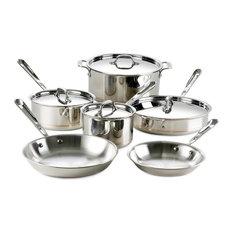 All Clad Copper Core Cookware Set, 10 pc.