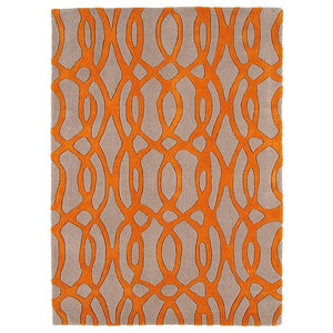 Matrix Wire MAX37 Rug, Orange, 160x230 cm