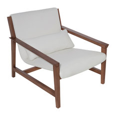 Bethany Leather Lounger, White
