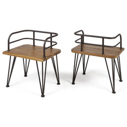 Industrial Outdoor Lounge Chairs by GDFStudio