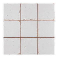 """SomerTile 13""""x13"""" Faenza Ceramic Floor and Wall Tile, White"""