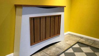 Angled radiator cover