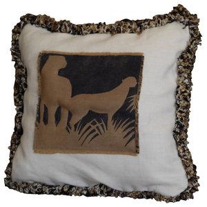 Double Cheetah Applique Animal Pillow