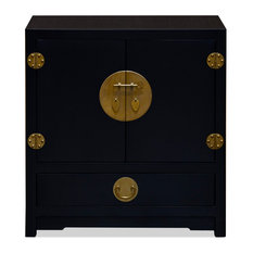 Matte Black Elmwood Ming Vanity Cabinet Without Bowl And Faucet