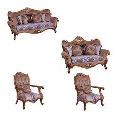 European Furniture - Augustus II 4 Piece Luxury Living Room Set
