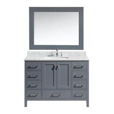 "London 48"" Single Sink Vanity Set in Gray Finish"