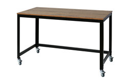 OneSpace Loft Writing Desk with Steel Frame, Wood Surface