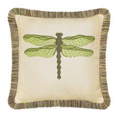 Elaine Smith Dragonfly Peridot Pillow