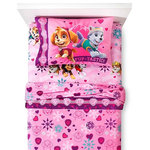 Disney - Paw Patrol Twin Flannel Sheets Best in Snow Bedding - FEATURES: