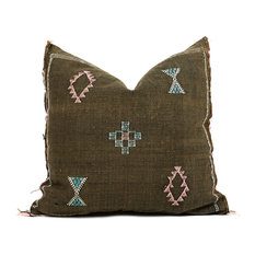 Bryar Wolf - Bou Moroccan Cactus Silk Pillow, Cover Only - Decorative Pillows