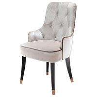 A&X Larissa Modern Fabric Dining Chair, White