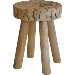 Rustic Accent And Garden Stools by HedgeApple