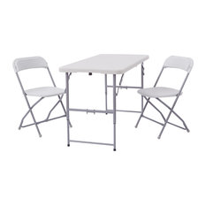 3-Piece Folding Set, 2 chairs and table