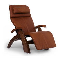 Human Touch PC-420 Perfect Chair Walnut Zero-Gravity Recliner Cognac Premium