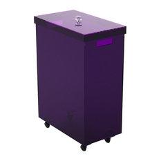 Angular Laundry Basket, Purple, Large