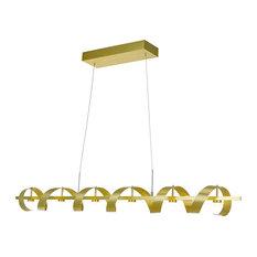 Artcraft Lighting AC7212 Rolling Hills Chandelier, Brushed Brass
