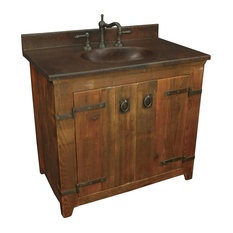 "36"" Old World Vanity Base, Black"