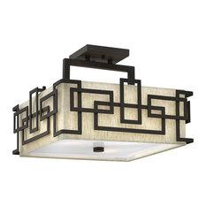 Lanza Contemporary Semi-Flush Ceiling Light