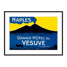 Contemporary Modern Transitional Fine Art, GRAND HOTEL DU VESUVE, Black Leaf