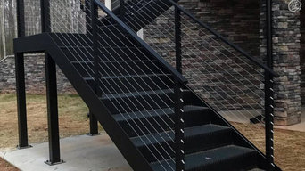 Carrollton - Cable Railing and Custom Stair