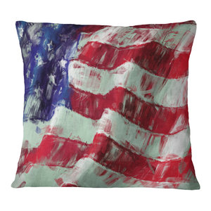 In Insert Printed On Both Side X 18 In Designart Cu8920 18 18 Wing With Greece Flag Abstract Cushion Cover For Living Room Sofa Throw Pillow 18 In Home Kitchen Bedding