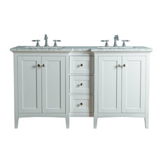 """Stufurhome Tower Modern Bathroom Vanity, White, 60"""""""