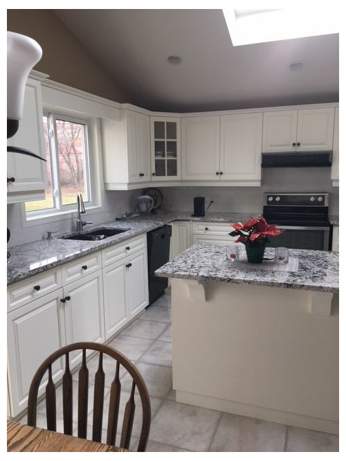 Paint Color With White Cabinets And Bianco Antico Granite