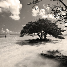 Young Fisherman Anne's Beach Florida Keys Fine Art Black and White Photography,