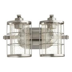 Ellis 2-Light Vanity Fixture, Satin Nickel