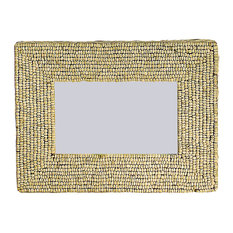 creative coop cocoa bead decorated picture frame picture frames