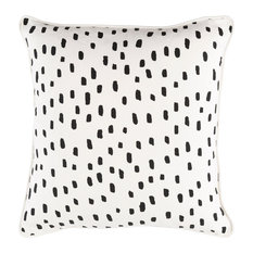 Modern Accent Pillow, Cream and White and Black