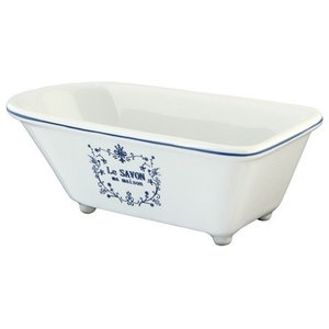 01463f6b7ec Vintage Bathtub Shaped Soap Dish - Eclectic - Soap Dishes   Holders ...