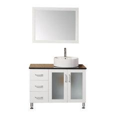 """39"""" Single Bathroom Vanity, Pearl White"""