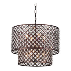 50 most popular copper chandeliers for 2018 houzz 1st avenue mariella 8 light crystal double shade chandelier antique copper chandeliers aloadofball Gallery