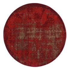 "Nourison Karma Area Rug, Red, 7'10"" Round"